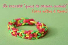 """tutoriel : loom bracelet """"queue de poisson inversée"""" sans métier"""