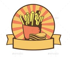 French Fries and Chips Banner