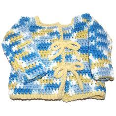 Newborn Boy 0 to 3 month Crochet Sweater by MrsSchafferCreations, $20.00