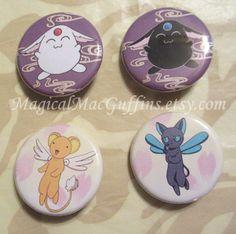 CLAMP CCS CardCaptor Sakura Rayearth Tsubasa Reservoir Chronicle xxxHolic Chobits Wish Kobato Buttons
