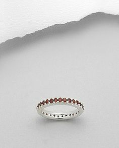 Garnet Eternity Band Ring Sterling Silver 925.....all sizes have been restocked!