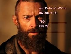 hahaha Les Mis valentines @Aubrey Giammarco