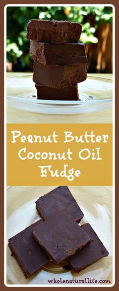 This healthy peanut butter coconut oil fudge is honey-sweetened and packed full of healthy coconut oil. Try this easy fudge today!