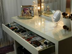 Makeup Storage Ikea (my future vanity ;)
