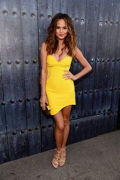 Chrissy Teigen, killing it in that yellow dress.