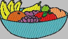 Free Fruits machine embroidery children designs