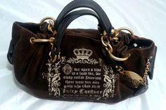 Juicy Couture Crown Handbag Purse~Brown with Royal Juicy Hangtag #JuicyCouture #TotesShoppers