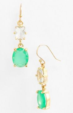 kate spade new york 'hancock park' double drop earrings (Nordstrom Exclusive) available at #Nordstrom