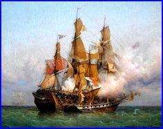 Garneray Ambroise Louis   L'abordage du Kent par le corsaire maloin La Confiance en 1835    huile sur toile 1850 162 x132 cm   Musée d'Histoire de Saint-Malo