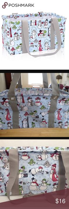 Thirty One small utility tote snow dazed Thirty One small utility tote snow dazed Thirty One Bags Totes