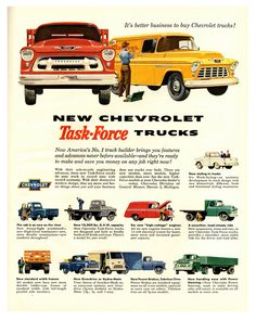 Best classic cars and more! 1950s Chevy Truck, Classic Chevy Trucks, Classic Cars, 1955 Chevrolet, Chevrolet Trucks, 1955 Chevy, Station Wagon, Vintage Advertisements, Vintage Ads