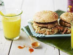 Chicken Thai Burger med myntecoleslaw
