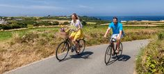 Cycling through country lanes