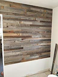 Amazon Com Epic Artifactory Reclaimed Barn Wood Wall Panels Diy Peel And Stick Easy Installation 10 Sq Ft Home Kitchen Wall Paneling Diy
