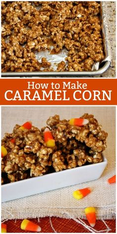 How to Make Caramel Corn, this is a classic caramel corn recipe. Caramel Corn Recipes, Popcorn Recipes, Fall Recipes, Dessert Recipes, How To Make Caramel, Recipe Girl, Popular Recipes, Oreo, Food To Make