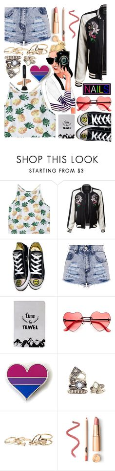 """Most Girls (Hailee Steinfeld)"" by superswimmerca ❤ liked on Polyvore featuring LE3NO, Converse and GUESS"