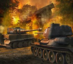 iger I vs T-34/85, courtesy of Valery Petelin ... Pelín close I would say, reminds me of Brad Pitt chestnut that where another Tiger I and Sherman a ballroom dance marked ... still I have nightmares. Greetings.- BFD