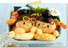 fun swimming bento