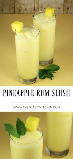 Pineapple Rum Slush - The Toasty Kitchen