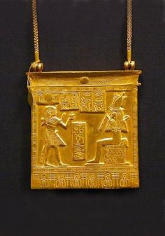 *EGYPT ~ Gold pendant ~ From the treasure of the royal tombs Tanis ~1070-712 B.C. ~ Cairo Museum by maureen