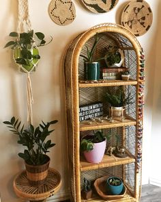 Went thrifting today with my lovely daughter @marliedarling  I found this wicker bookcase before she did. Nanner nanner.  #thisiswhyihavetothriftshopeveryday #bohoonthelowlow #bohoismyjam #myhomevibe #rattanfurniture #wickerlove #smallspacesquad #smallspacestyle #pocketofmyhome #myeclecticmix #plantsofinstagram #hippiestyle #apartmenttherapy #thrifted #goodwillfinds