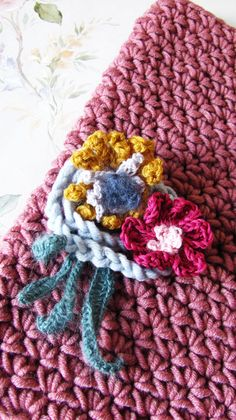 Dried Flowers - Hand Crocheted Cowl - Infinity Scarf - Ready To Ship by KatyaCrochetNest on Etsy