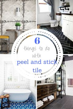 Peel and Stick Tile, Peel and Stick Tile Projects, Tile Projects, DIY Home Decor, DIY Home Remodel, Home Remodeling Tips, Home Decor Tips and Tricks, DIY Home, Bathroom, Bathroom Upgrades, Popular Pin