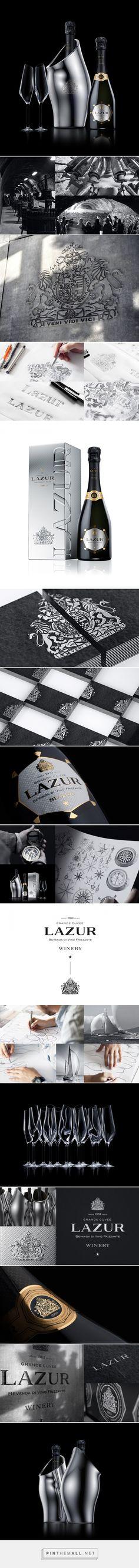 Lazur wine packaging designed by Reynolds and Reyner - http://www.packagingoftheworld.com/2015/12/lazur.html