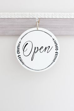 Whimsical Open and Closed Business Sign Custom Sign by InMind4U