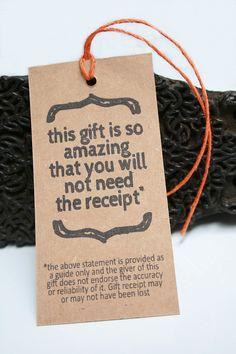 Christmas Gift Tags Funny Set of 8. $3.50, via Etsy.
