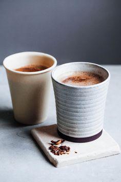 Cacao Tonic ~ 1T raw cacao, 2 c nut milk, 1 tsp maca, 1 tsp tocos, 1/2 tsp reishi, 1T coconut oil, 2 tsp maple syrup, optional pinch: vanilla, pink salt, ginger, cardamom, turmeric, cinnamon, cayenne, ashwagandha, mucuna pruriens
