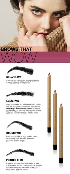 Define your face AND your brows with the Mary Kay® Brow Definer Pencil.