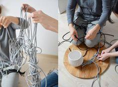 DIY – MACRAME HANGING PLANTER.