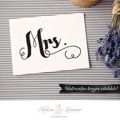 Printable Mrs. sign wedding signs DIY wedding by MadameLevasseur
