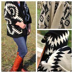 The Plaid Barn Aztec Sweaters Aztec Cardigan, Sweater Cardigan, Maternity Winter Coat, Comfortable Fashion, Plaid, Winter Coats, Sweaters, Barn, Style