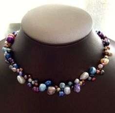 Still Waters  One of a Kind Necklace  Beadwoven by infoerica, $40.00
