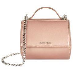Givenchy Mini Pandora Box Bag ($1,775) ❤ liked on Polyvore featuring bags, handbags, mini handbags, givenchy, mini purse, kiss-lock handbags and givenchy purse