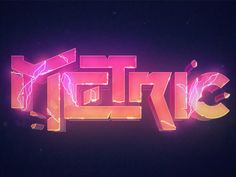 Metric logotype designed by Shabello. Connect with them on Dribbble; Typography Logo, Logos, Lettering, Game Concept, Logo Concept, Game Font, Game Ui, Japanese Art Prints, Neon Logo
