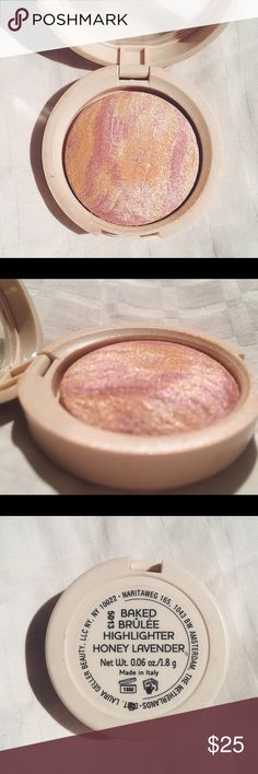 Laura Geller honey lavender highlighter Gently used and sanitized. Beautiful highlighter, a little goes a long way. This isn't sold in stores anymore and this travel sized retails for $34 on amazon.      •no trades or holds✖️ •I'm only on poshmark✔️ •use offer button please •same/next day shipping Makeup Luminizer