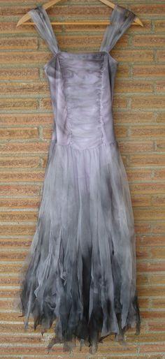 Sexy Zombie Ballerina Dead Girl Singed Purple Dress Gown Princess Fairy Small | eBay