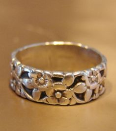 Floral silver ring, something I could wear everyday.