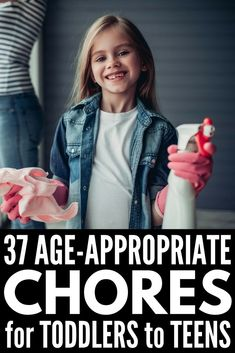 37 Age Appropriate Chores for Children - We're sharing 37 kids chores, 11 chore charts, and our thoughts on rewarding kids without money. These are perfect for girls and boys, toddlers & teens, Chores For Kids By Age, Age Appropriate Chores For Kids, Toddler Chores, Children Chores, Boy Toddler, Toddler Activities, Teen Chore Chart, Chore Chart For Toddlers, Charts For Kids