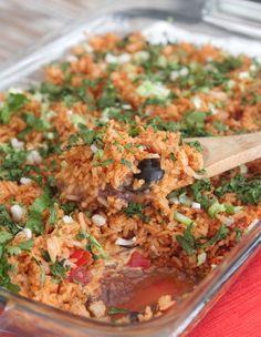 Fiesta 7 Layer Rice Bake.