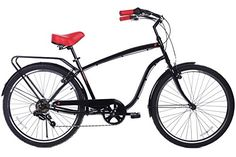 Special Offers - Gama Bikes Clubman 26-Inch Negro Rojo 6 Speed Shimano Cruiser Bicycle 19.5-Inch Black - In stock & Free Shipping. You can save more money! Check It (June 22 2016 at 06:29PM) >> http://cruiserbikeswm.net/gama-bikes-clubman-26-inch-negro-rojo-6-speed-shimano-cruiser-bicycle-19-5-inch-black/