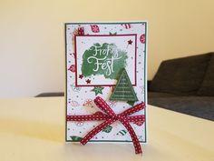 Karte - Stampin' Up! - Weihnachten - Alle guten Wünsche - Flüsterweiß, Chilli und Gartengrün