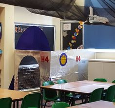 Space-themed classroom