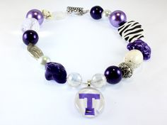 Tarleton Team Spirit Chunky Necklace Custom Order N1131, $43