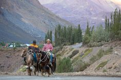 Men on Horses in the Andes Mountains in a Remote Area Miles Outside of San Jose De Maipo, Chile