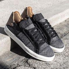 adidas x Pharrell Vulc Lace Up: Black/Grey