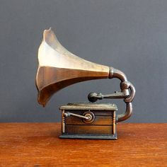 Retro Pencil Sharpener Gramophone or Record Player 1980's collectable office décor